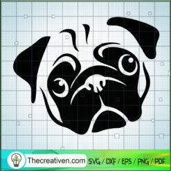 Pug Face SVG, Pug Dog SVG, Pet Lover SVG