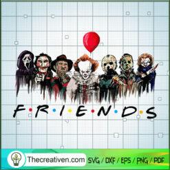 Friends Horror Halloween SVG, Halloween Horror SVG, Horror Characters SVG