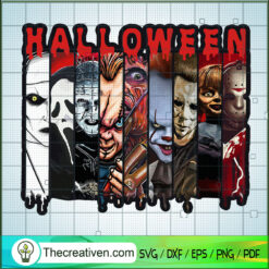 Halloween Horror All Characters SVG, Homicidal Movie SVG, Halloween SVG