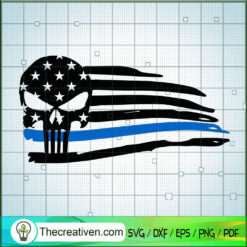 Punisher Skull SVG, Skull SVG, US Flag SVG