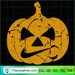 Halloween Pumpkin Nike Mouth SVG, Nike Halloween SVG, Pumpkin Halloween SVG