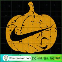 Nike Pumpkin Halloween SVG, Nike Brand SVG, Halloween SVG