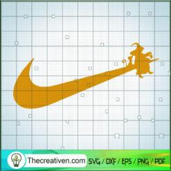 Witch Sit On Nike SVG, Nike Brand SVG, Halloween SVG