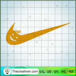 Nike Pumpkin SVG, Halloween Pumpkin SVG, Nike Brand SVG