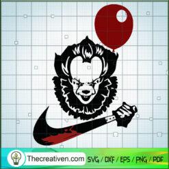Pennywise Nike Knife SVG, Nike Brand SVG, Halloween SVG