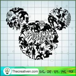Spider Man Mickey Head SVG, Spider Man SVG, Mickey Head SVG