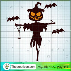 Figurehead Halloween SVG, Pumpkin Halloween SVG, Scary Halloween SVG