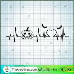 Pumpkin Heart Beat SVG, Pumpkin Halloween SVG, Halloween SVG