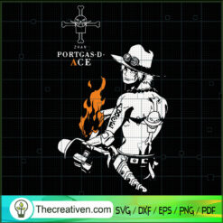 Portgas D Ace SVG, Asce SVG, One Piece SVG