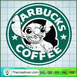 Stitch Starbucks Coffee SVG, Stitch SVG, Starbucks SVG