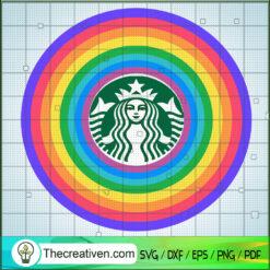 Starbucks Colorful SVG, Starbucks Rainbow SVG, Starbucks Logo SVG