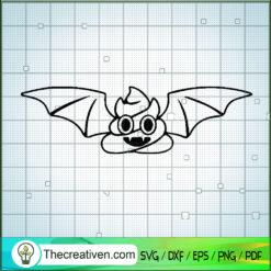Halloween Poop Bat SVG, Halloween SVG, Funny Poop SVG