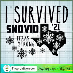 I Survived Snovid 21 SVG, Winter 2021 SVG, Texas Strong SVG