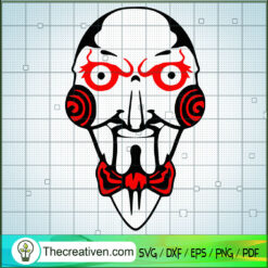 Saw Horror Face SVG, Horror Characters SVG, Halloween SVG