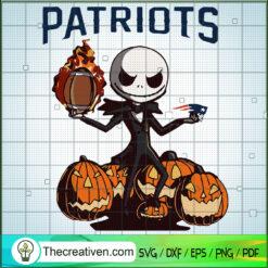 Patriots Jack Skellington SVG, Jack Skellington Pumpkin SVG, Rugby Jack SVG, Halloween SVG