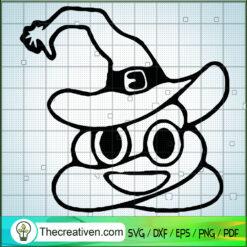 Halloween Poop Witch Hat SVG, Halloween SVG, Funny Poop SVG
