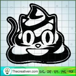Halloween Poop Black Cat SVG, Halloween SVG, Funny Poop SVG