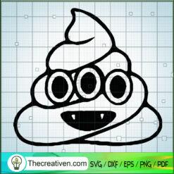 Halloween Poop Devil SVG, Halloween SVG, Funny Poop SVG