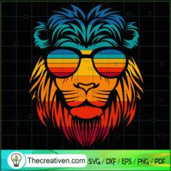 Lion Head Retro SVG, Chill Vibes SVG, Lion SVG