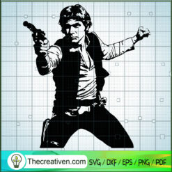 Han Solo SVG, Star Wars SVG, Characters SVG