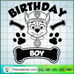 Birthday Boy SVG, Paw Patrol Birthday SVG, Birthday SVG