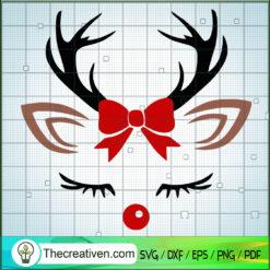 Reindeer Face SVG, Reindeer Christmas SVG, Reindeer SVG