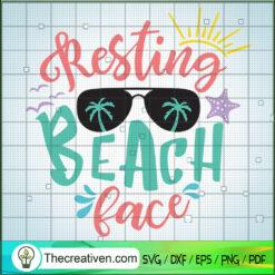 Resting Beach Face SVG, Holidays SVG, Summer Time SVG