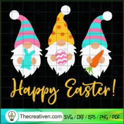 Happy Easter SVG, Easter Gnomes SVG, Kids Easter SVG, Carrot Rabbit Easter SVG