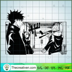 Jujutsu Kaisen Scene SVG, Jujutsu Kaisen SVG, Anime SVG