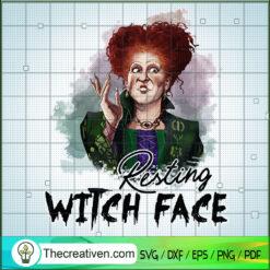 Resting Witch Face SVG, Sanderson Sister SVG, Hocus Pocus SVG
