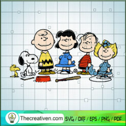 Peanuts Characters SVG, Snoopy SVG, Funny Cartoon SVG