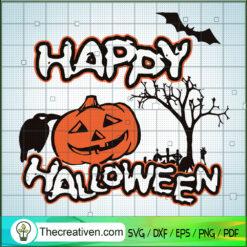 Happy Halloween SVG, Scary Pumpkin SVG, Halloween SVG