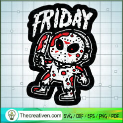 Friday The 13th SVG, Jason Voorhees Chibi SVG, Horror Movie SVG