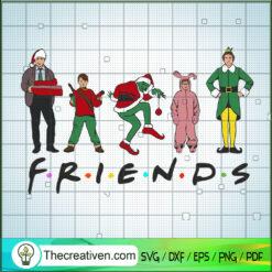 Friends Christmas Movie SVG, Friends SVG, Merry Christmas SVG