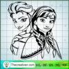 Frozen Svg Frozen Princess Anna and Elsa copy