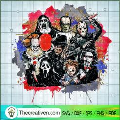 Funny Horror Characters Friends SVG, Horror Killer SVG, Halloween SVG