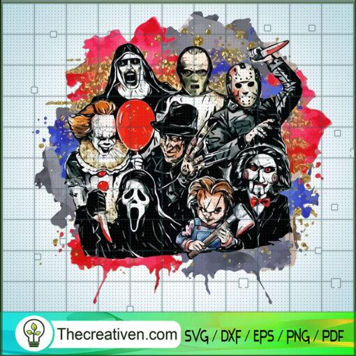 Funny Horror Characters Friends copy