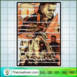 Michael Myers Poster SVG, Horror Movie SVG, Halloween Horror SVG