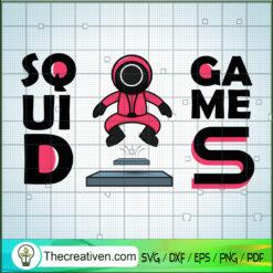 Squid Game Crew Jumping, Squid Game SVG, Korean Movie SVG