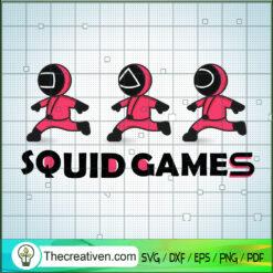 Squid Game Crew Runing Way SVG, Squid Game SVG, Korean Movie SVG
