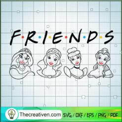 Friends Princess SVG, Disney Princess SVG, Walt Disney SVG