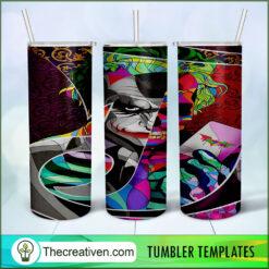Joker Full Tumbler Wrap, 20oz Skinny Straight, Joker Skinny 20oz, PNG Digital File